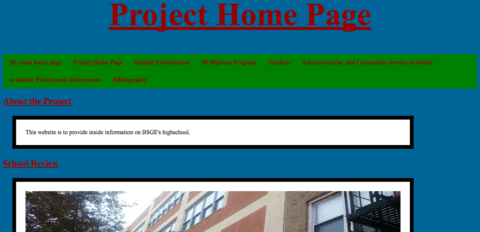 Project Home Page