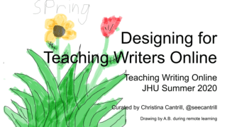 Designing for Teaching Writers Online