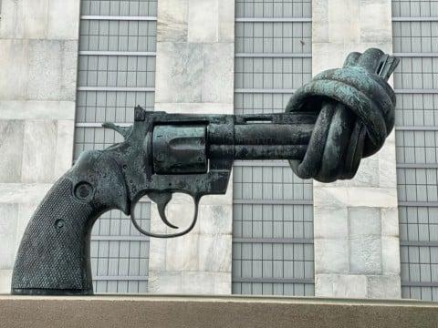 revolver statue