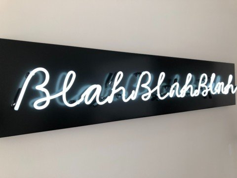 neon light mounted on white surface
