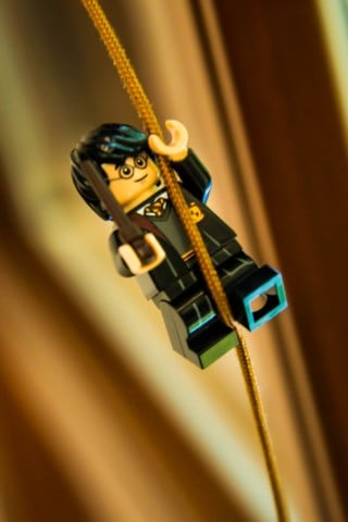 black and yellow lego minifig