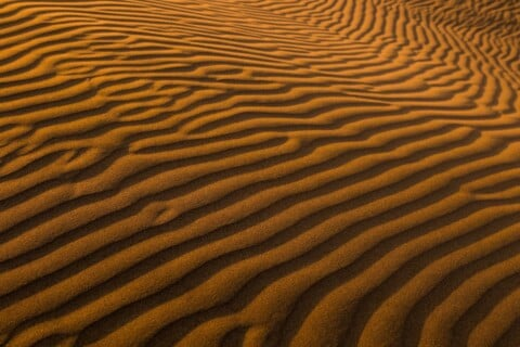 aerial view photography of sand dune
