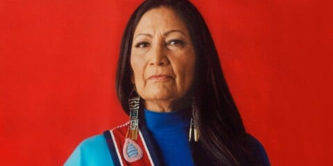 """Portraying Deb Haaland in her cultural attire is important so as to challenge the idea of what a """"business"""" women looks like, especially in the political world."""